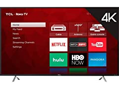 "TCL 55"" 4-Series 4K UHD Roku Smart TV"