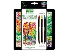 Crayola Signature Sketch & Crayoligraphy Set
