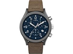 Timex Mens SS AnalogQuartz Leather Watch