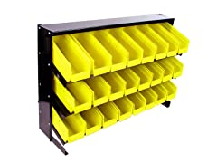 24 Bin Parts Storage Rack Trays
