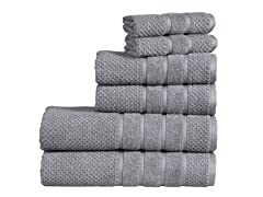 Bibb Home 100% Cotton 6-Piece Towel Set