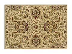 Avery Ivory/Green Area Rug (4 Sizes)