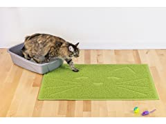 Furhaven Printed Cat Litter & Food Mat
