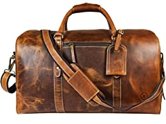 Leather Overnight/Weekend Carry-On Bag