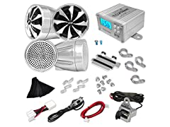 600W Motorcycle Weatherproof Speaker System
