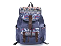 Casual Floral Canvas Rucksack