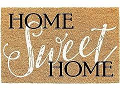 Printed Coir Welcome Mat, Home Sweet Home