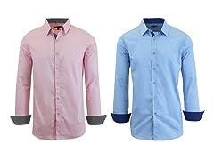 GBH Men's LS Solid Dress Shirt 2-Pack
