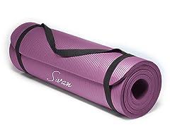 "1/2"" Comfort Foam Yoga Mat, 6 Colors"