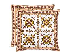Gorgon Tiles 18x18 Green/Beige - S/2