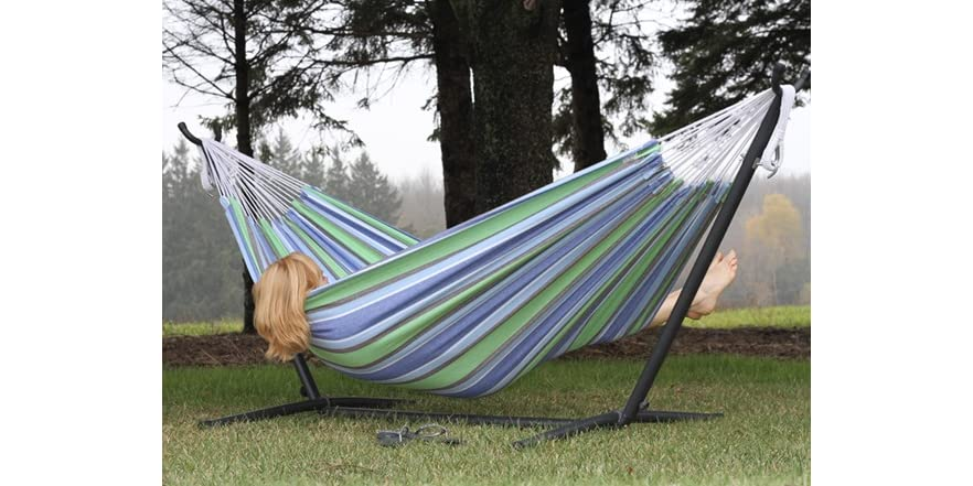 Vivere 8 Foot Double Hammock With Stand