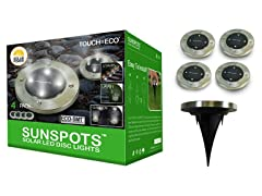 Solar SUNSPOTS Outdoor LED Disk Lights, Your Choice