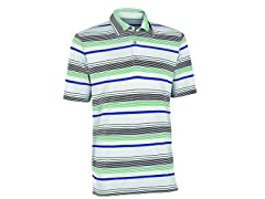 Performance Ombre Stripe Golf Shirt - White/Green