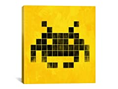 Brushed Cube Invader Art 18x18 Thin