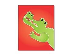 """11"""" x 14"""" Crocodile Print"""
