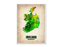 Naxart 'Ireland Watercolor Map' Canvas Art- 2 Sizes