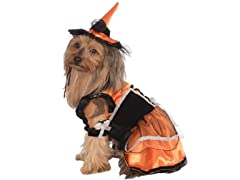 Rubie's Pet Costume, Large, Orange Witch