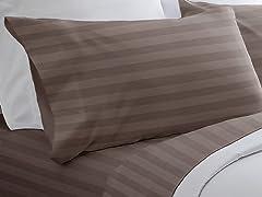 300TC Egyptian Cotton Sheet Set-Taupe-5 Sizes