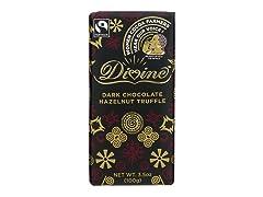 Dark Chocolate w/ Hazelnut Truffle Bar