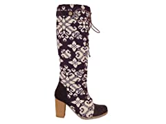 MUK LUKS® Women's Basketweave Tall Boot, Purple