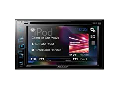"""Pioneer 6.2"""" Double-DIN In-Dash DVD Receiver"""