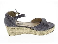Platform Wedge Sandals - Grey 9