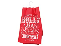 Primitives By Kathy Dish Towel - Holly Jolly