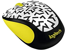 Logitech M325c Wireless Mouse - Yellow Zigzag