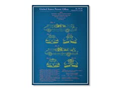 "Blueprints Batmobile Poster 18"" x 24"""