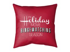 Holiday Movie Season Double Sided Pillow