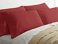 2pk Quilted Pillows w/4 Bonus Cases-Brick