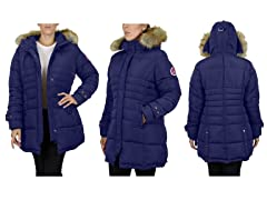 Womens Heavyweight Quilted Bubble Jacket