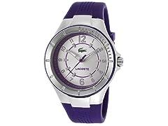 Women's Silver Tone Dial Purple Silicone
