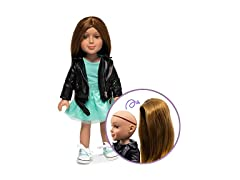 Doll w/ Brown Removable Synthetic Wig
