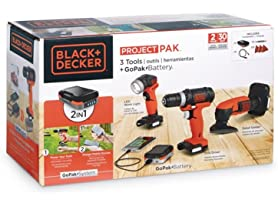 Black+Decker 3-Tool GoPak Project Kit