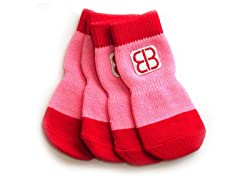 Home Comfort Traction Control Socks Red/Pink