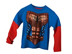Spiderman Long Sleeve Tee - Blue (4,7)
