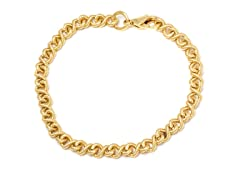 18K Gold Plated Dia. Cut Infinity