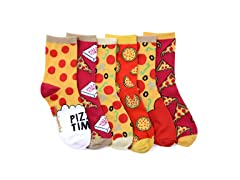 LittleMiss Matched Smelly Sock Pizza 6pk