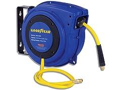"""Goodyear 1/4"""" x 50' Hybrid Air Hose Reel"""