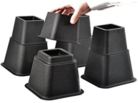 Adjustable Bed Risers or Furniture Riser- 4 Pack