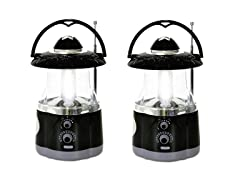 2-Pack Northpoint 12 LED White and 4 LED Flashlight Lantern with AM/FM radio