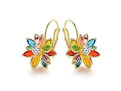Colorful Lotus Earrings