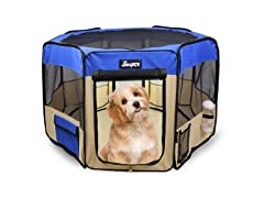 Jespet Blue Portable Soft Dog Exercise Pen