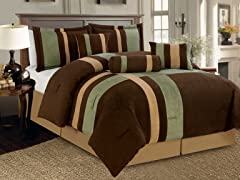 Reham 7pc Comforter Set - Sage - 2 Sizes