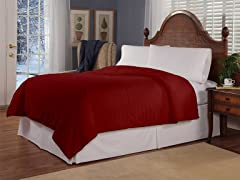 Plush Tri Rib Electric Warming Blanket- 2 Sizes