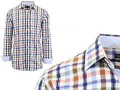 GBH Men's LS Pattern Dress Shirt