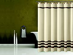 Bleecker Fabric Shower Curtain-4 Colors