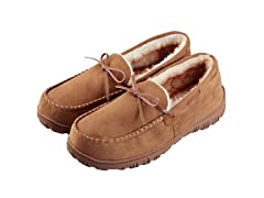 Men's Lined Microsuede Slippers