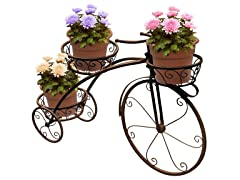 Tricycle Stand 3-Flower Pot Display Rack